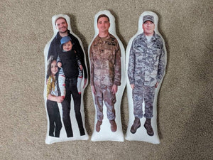 Deployment Doll, Daddy Doll, Mommy Photo Pillow, Face pillow, Comfort Doll, Look-a-Like Doll, Military Doll, Memory Doll, Army Doll, Navy