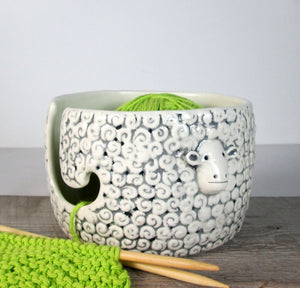 Sheep Knitting Bowl