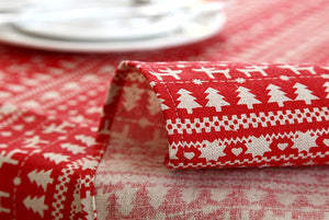 Linen Christmas Tablecloth