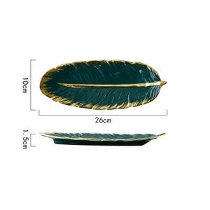 Luxury Ceramic Feather Platter