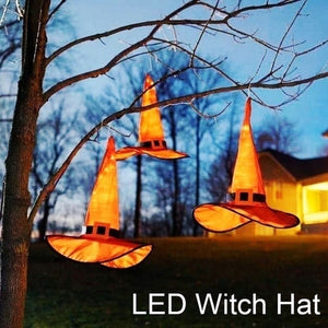 Hanging Witch Hat Lights