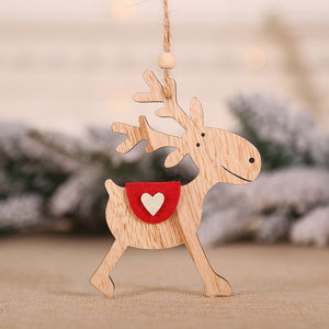 Natural Wood Christmas Tree  DIY Ornament