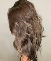 Brown Balayage Hair Down Styled