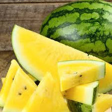 Load image into Gallery viewer, Heirloom Organic Mountain Sweet Yellow Watermelon Seeds