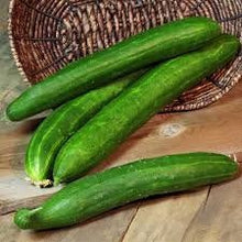 Load image into Gallery viewer, Heirloom Organic Japanese Tasty Green Cucumber Seeds