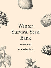 Load image into Gallery viewer, Organic Winter Survival Seed Bank