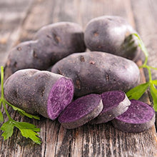 Load image into Gallery viewer, Organic Blue Seed Potato Live Plant Bulbs vegetable seeds rare seeds and live plants