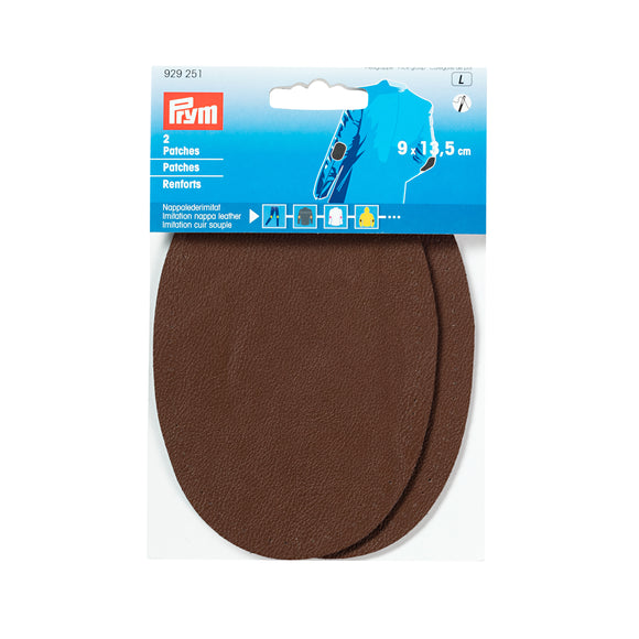 Prym - Renforts thermocollants imitation cuir souple brun fonce