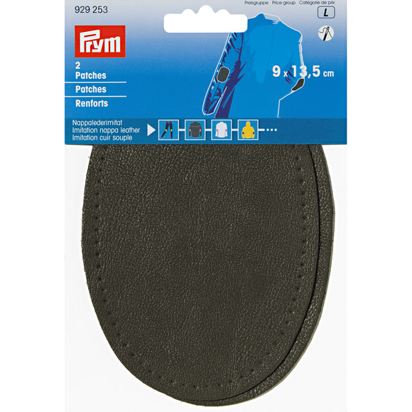 Prym - Renforts thermocollants imitation cuir souple gris fonce