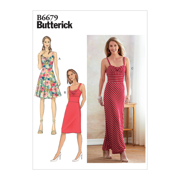 Patron couture Butterick B6679 | Robe