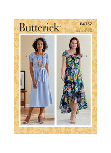 Patron couture Butterick Femme 6757 Robe