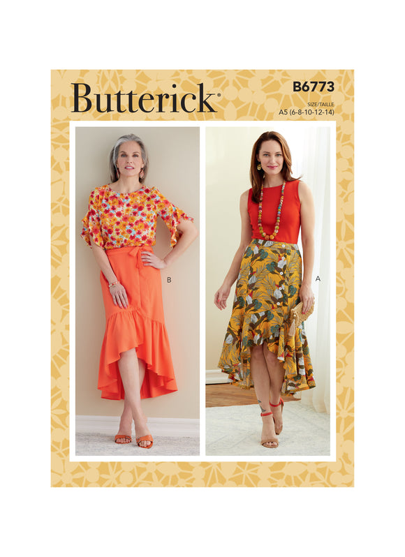 Patron couture Butterick Femme 6773 Jupe