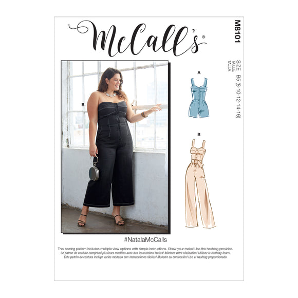 Patron couture Mc Call's Femme 8101 Barboteuse Jumpsuit