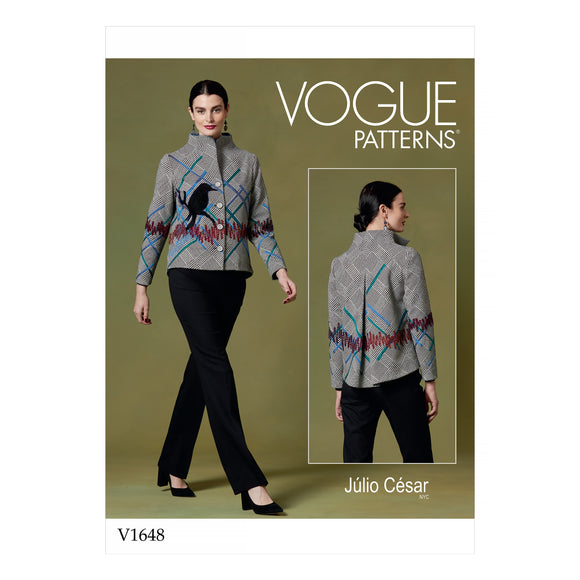 Patron couture Vogue 1648 Veste
