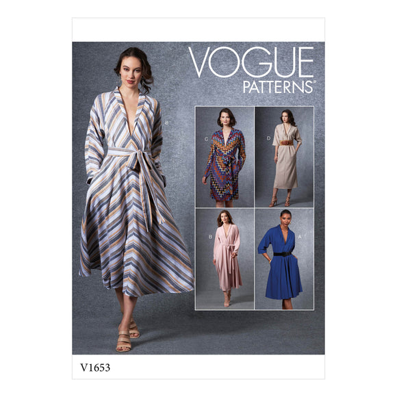 Patron couture Vogue 1653 Robe