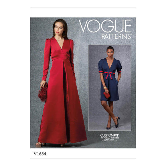 Patron couture Vogue 1654 Robe