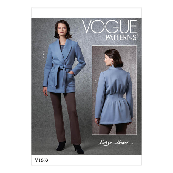 Patron couture Vogue 1663 Pantalon Veste Haut