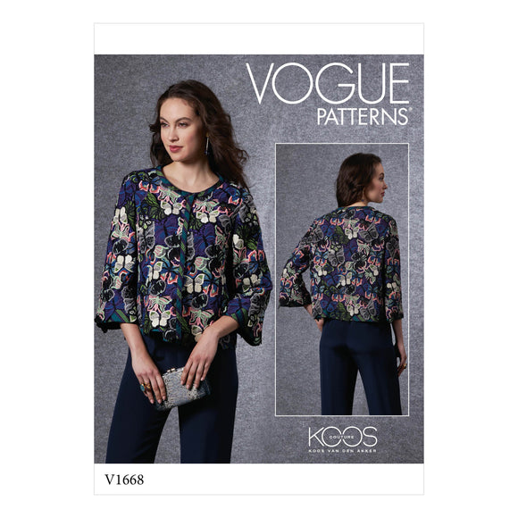 Patron couture Vogue 1668 Veste