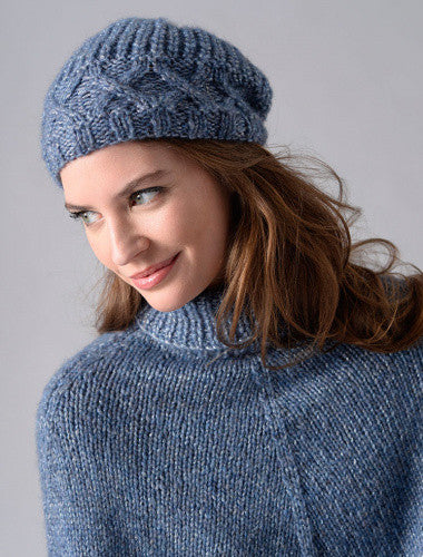 Modèle tricot Bonnet à point fantaisie 123-08 | Plassard