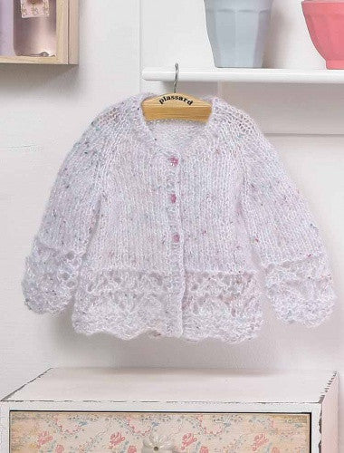 Modèle tricot Cardigan à point fantaisie 127-22 | Plassard