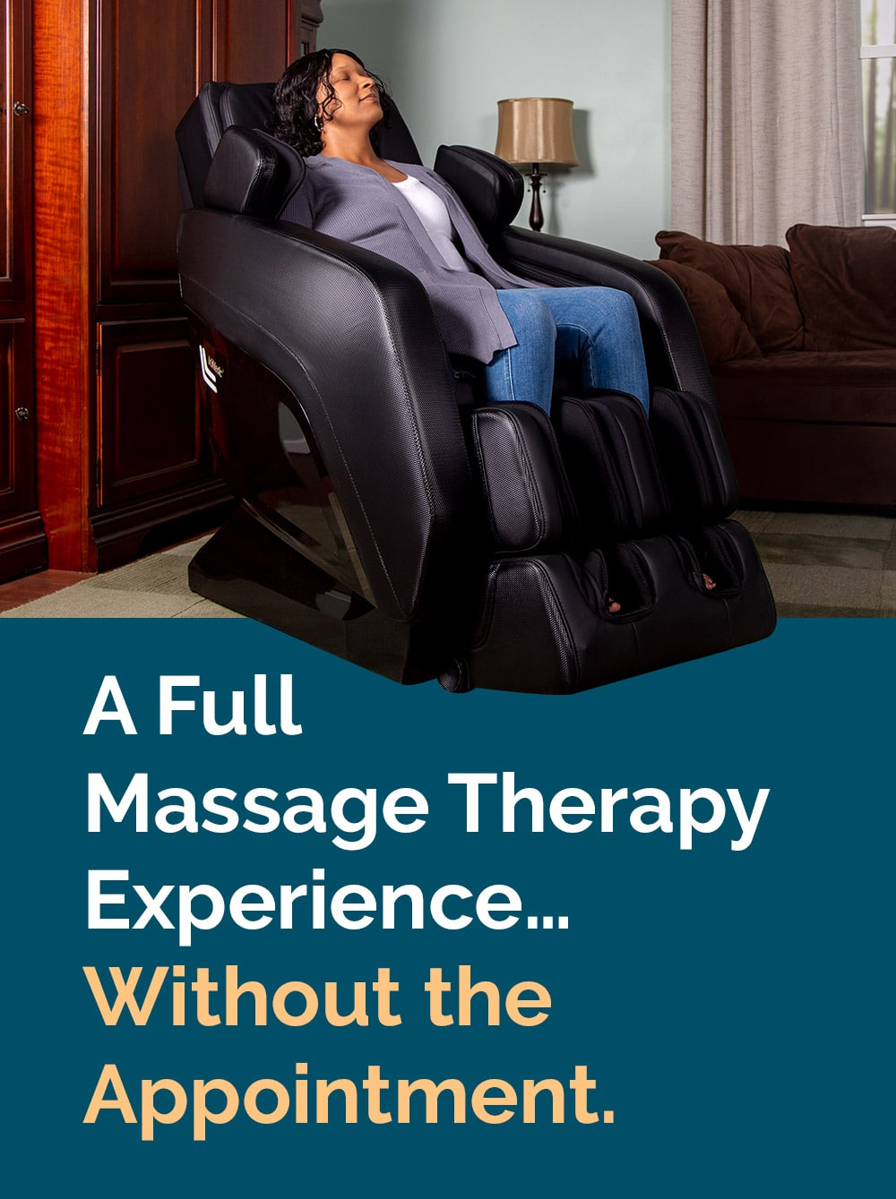 woman relaxing in a MC 1000 massage chair