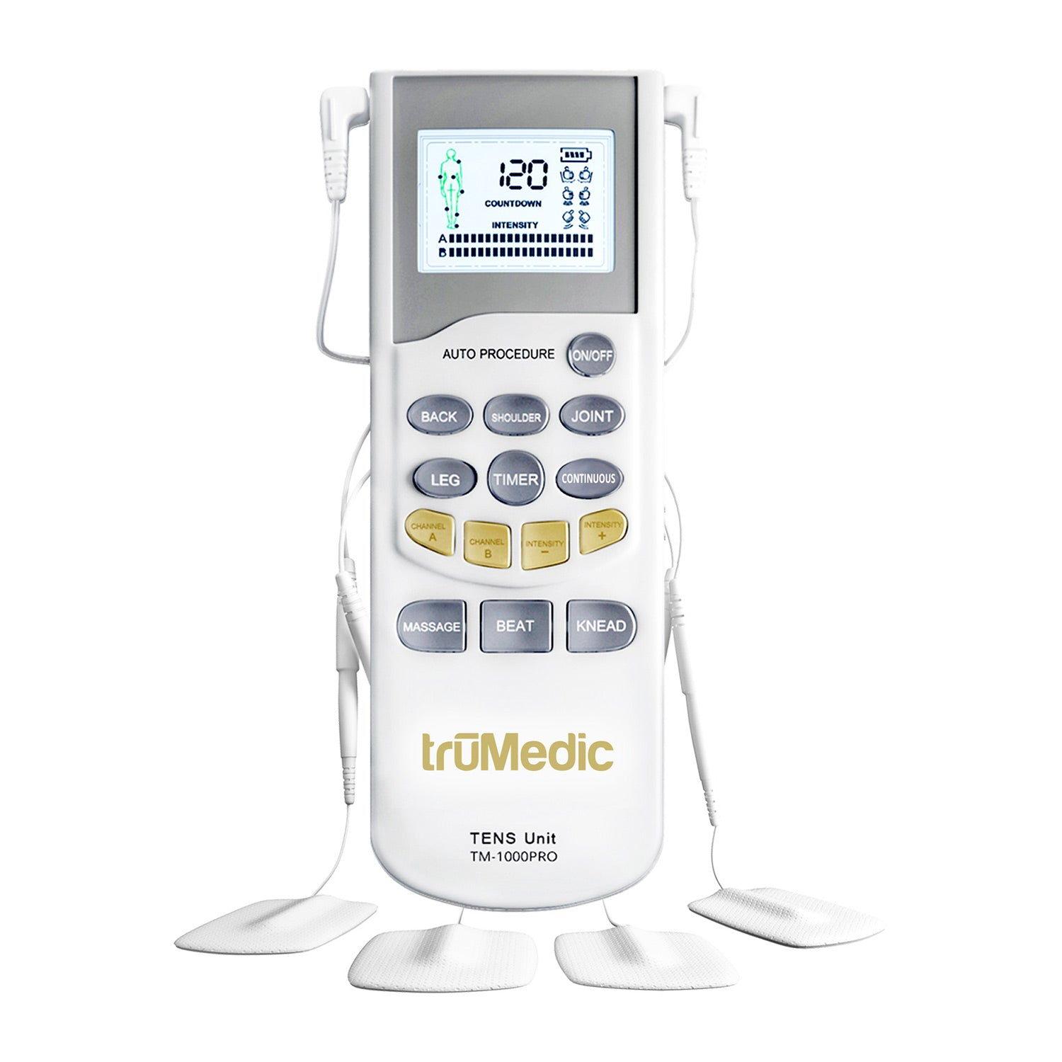 TM-1000PRO Deluxe TENS Unit Electronic Pulse Massager