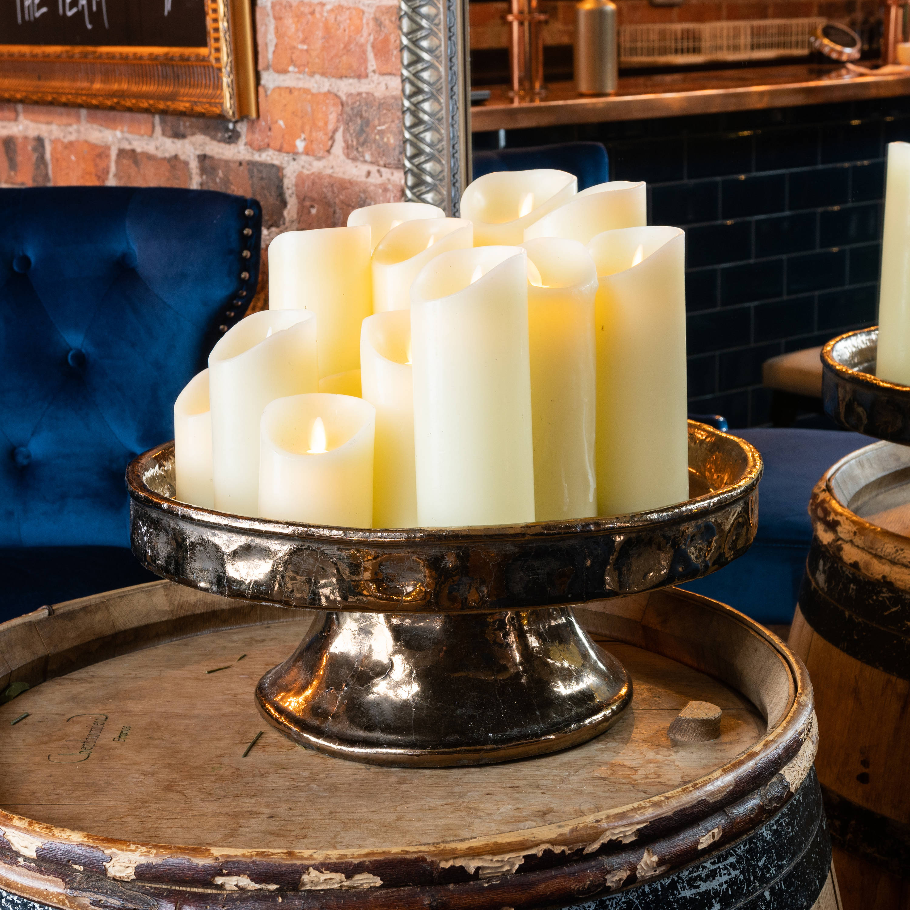 Luxe Collection Flickering Flame LED Wax Candle