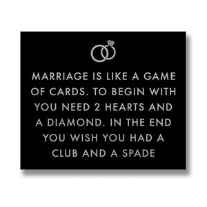 Marriage Is Like Metalic Detail Plaque