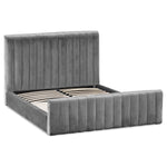 Emperor Grey Velvet King Size Bed