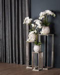 Farrah Collection Medium Silver Plant Stand