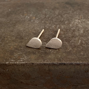 Matt Pear Shape Studs