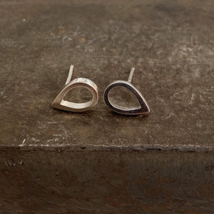 Hollow Pear Studs