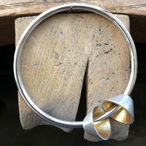 Classic Two Cone Element Bangle