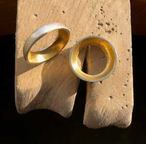 Hollow Twin Rings, Pair