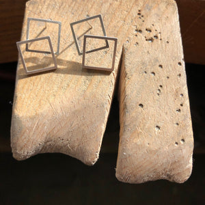 Double Square Edit Earrings, Concert Range
