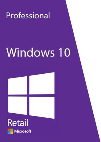 Microsoft Windows 10 Professional Pro Full Version - License Key Lifetime
