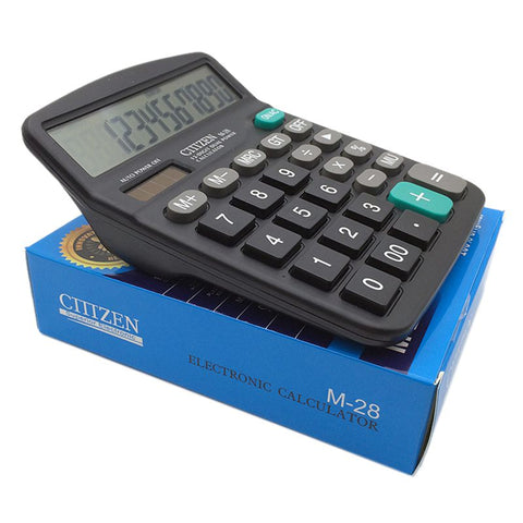 Calculator, Standard Function Desktop Calculator Solar And Battery Powered