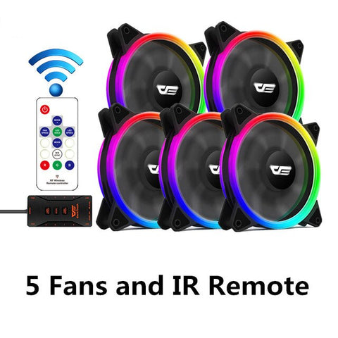 darkFlash DR12 Pro Computer PC Case Fan 120mm RGB LED Quiet Remote Speed adjust AURA SYNC Computer Cooler Cooling RGB Case Fans