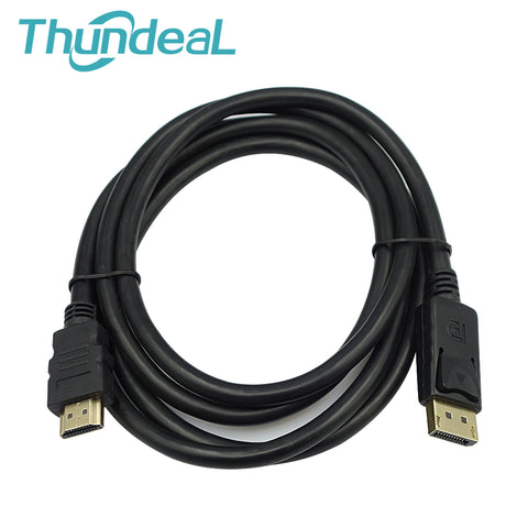 1.8M/6FT Laptop HDMI Cable1080P HD Male to HDMI Display Port DP to HDMI Male Cable Adapter Video Converter for HD Projector