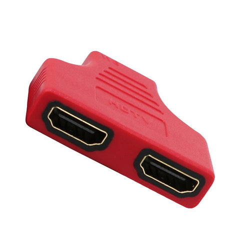 Colorful 1080P HDMI Ports Male to 2 Female 1 In 2 Out Splitter Adapter Converter For TV