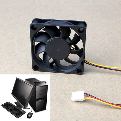 60x60x15mm 3 Pin 12V Case Computer Cooler Cooling Fan PC Black Tools NC99