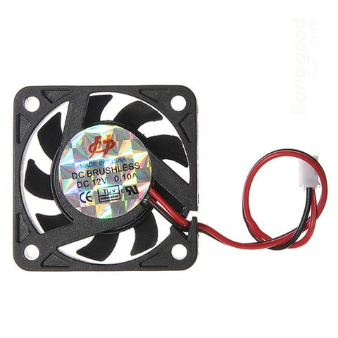 Mini 12V 2 Pin 40mm Computer Cooler Small Cooling Fan PC Black F Heat Sink a57