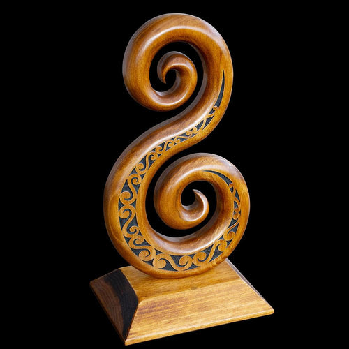 Large Carved Koru Sculpture - Zen Gifts NZ