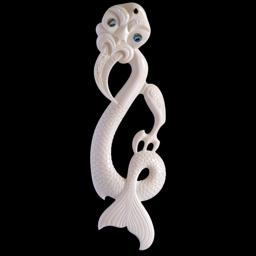 Large Bone Taniwha (2 Sizes) - Zen Gifts NZ