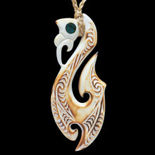 Load image into Gallery viewer, Large Flame Brushed Manaia Matau - Zen Gifts NZ