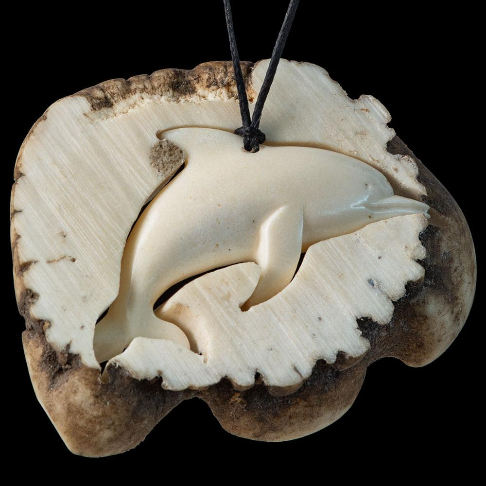 Deer Antler Dolphin plus Display Base - Zen Gifts NZ