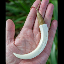 Load image into Gallery viewer, Huge Engraved Boars Tusk - Zen Gifts NZ