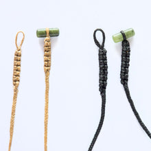 Load image into Gallery viewer, Braid Cords with Jade Toggles - Zen Gifts NZ