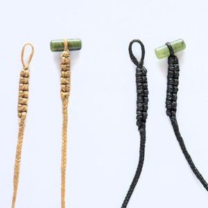 Braid Cords with Jade Toggles - Zen Gifts NZ