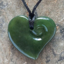 Load image into Gallery viewer, Small Jade Heart Koru - Zen Gifts NZ